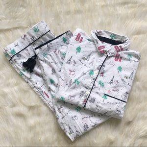 Victoria's Secret Paris Themed Pajama Set